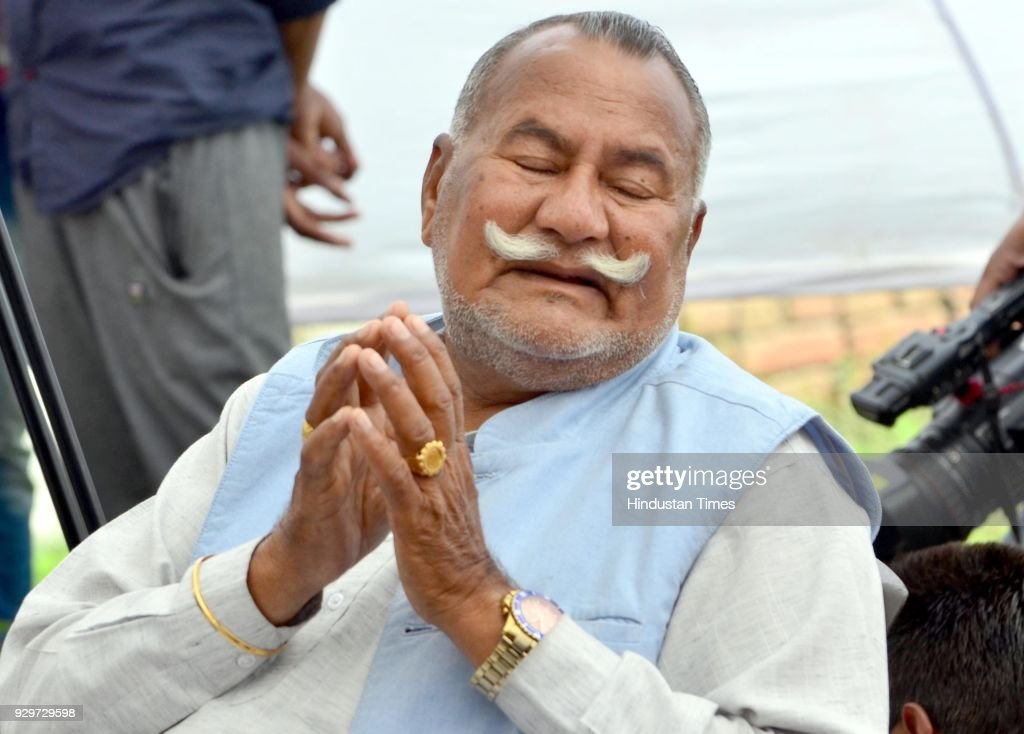 Sufi Singer Padma Shri Ustad Puran Chand Wadali in grief over his younger brother Ustad Pyarelal Wadali death at his native village Guru Ki Wadali on.