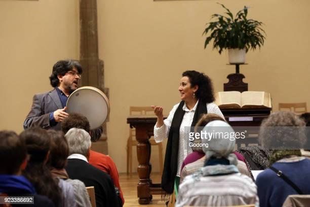Sufi singing workshop with Habib Yammine and Aicha Redouane Calvin Auditory Geneva Switzerland