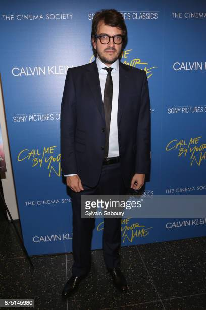 Sufjan Stevens attends Calvin Klein and The Cinema Society host a screening of Sony Pictures Classics' 'Call Me By Your Name' on November 16 2017 in...