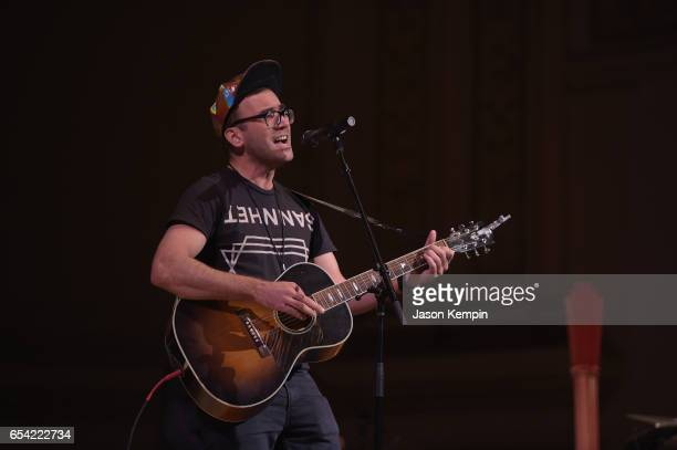 Sufjan Stevens attends the Tibet House US 30th Anniversary Benefit Concert Gala to celebrate Philip Glass's 80th birthday rehearsal at Carnegie Hall...