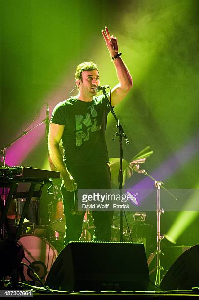 Sufjan Stevens performs at Le Grand Rex on September 8 2015 in Paris France