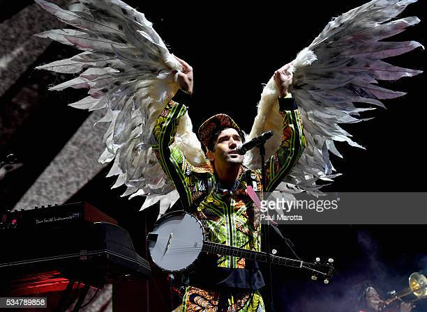 Sufjan Stevens performs on Day 1 of the Boston Calling Festival on Government Center Plaza on May 27 2016 in Boston Massachusetts