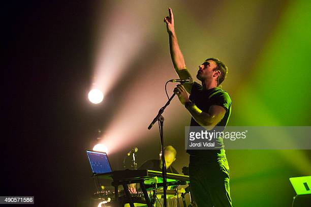 Sufjan Stevens performs on stage at Auditori del Forum on September 29 2015 in Barcelona Spain