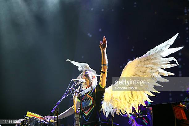 Sufjan Stevens performs on stage at the Royal Festival Hall on May 12 2011 in London United Kingdom
