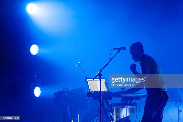 Sufjan Stevens performs on stage during Edinburgh International Festival at Playhouse on August 30 2015 in Edinburgh Scotland