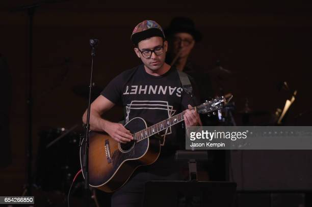 Sufjan Stevens performs onstage during the Tibet House US 30th Anniversary Benefit Concert Gala to celebrate Philip Glass's 80th Birthday at Carnegie...