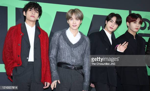 Suga, Jin and Jungkook of BTS arrive at the Melon Music Awards 2019 at Gocheok Sky Dome on November 30, 2019 in Seoul, South Korea.