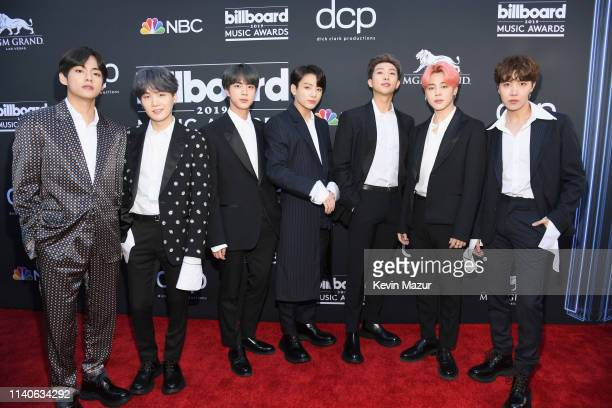 V Suga Jin Jungkook RM Jimin and JHope of BTS attend the 2019 Billboard Music Awards at MGM Grand Garden Arena on May 1 2019 in Las Vegas Nevada