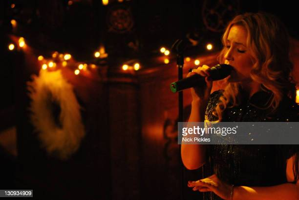 Sugababes Amelle Berrabah performs at St Philip with St Stephen church December 11 2007 Salford Manchester England