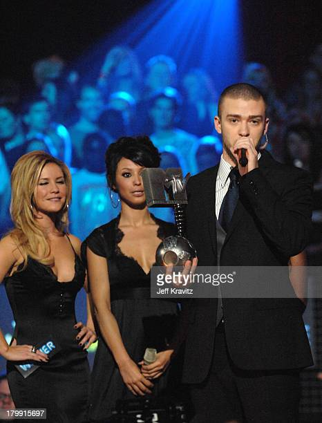 Sugababes and Justin Timberlake during 2006 MTV European Music Awards Copenhagen Show at Bella Centre in Copenhagen Denmark
