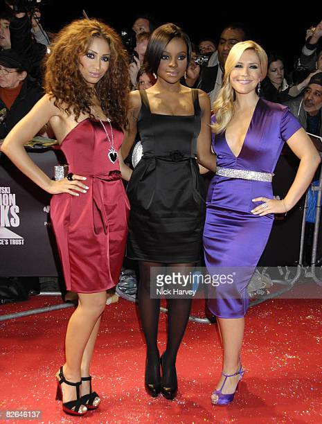Sugababes arrive at Swarovski Fashion Rocks 2007 on October 18 2007 at the Royal Albert Hall in London England