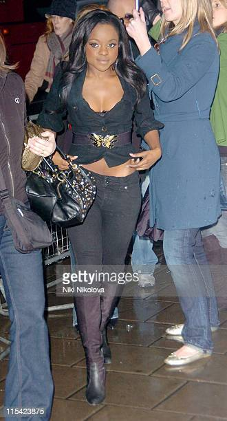 Sugababes at the Shockwaves NME Awards 2006 during Shockwaves NME Awards 2006 Outside Arrivals at Hammersmith Palais in London Great Britain