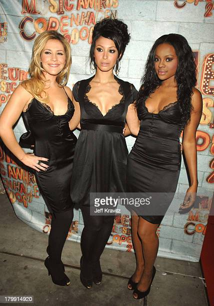 Sugababes during 2006 MTV European Music Awards Copenhagen Red Carpet Arrivals at Bella Centre in Copenhagen Denmark