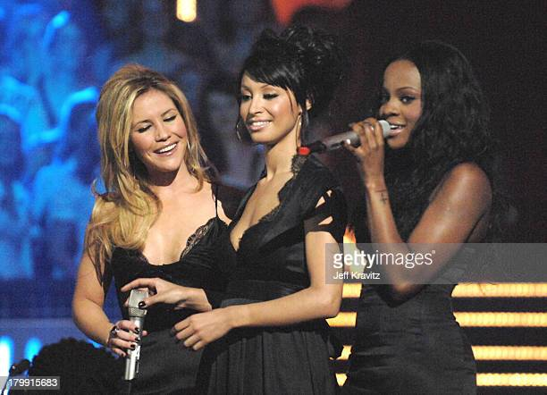 Sugababes during 2006 MTV European Music Awards Copenhagen Show at Bella Centre in Copenhagen Denmark