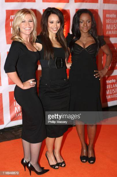 Sugababes during Meteor Ireland Music Awards 2006 Red Carpet at The Point in Dublin Ireland