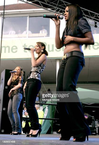 Sugababes during Sugababes Perform at the 2006 Twenty20 Cup Finals Day August 12 2006 at Trent Bridge Cricket Club in Nottingham Great Britain
