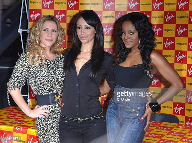Sugababes during Sugababes Signing and Instore Performance at Virgin Megastore in London November 13 2006 at Virgin Megastores in Oxford Street Great...