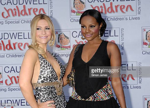 Sugababes Heidi Range and Keisha Buchanan arrive for the Caudwell Children 'The Legends Ball' at Battersea Evolution on May 8 2008 in London England