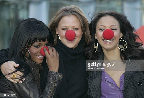 Sugababes Keisha Buchanan Amelle Berrabah And Kimberley Walsh Attend The Comic Relief 2007 Press Launch At The London Eye
