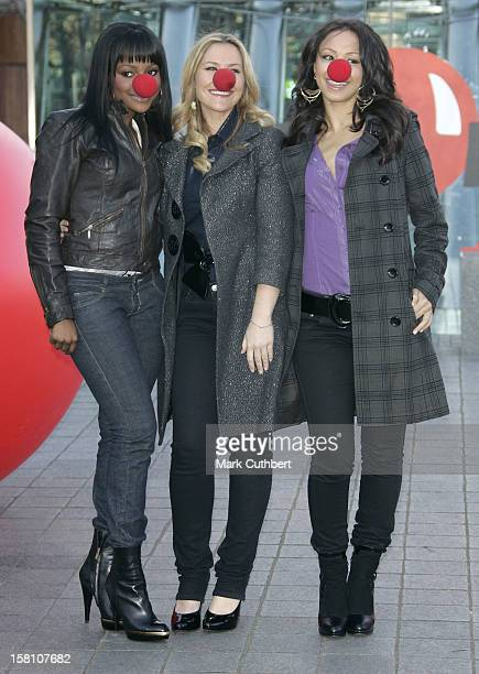 Sugababes Keisha Buchanan Heidi Range Amelle Berrabah Attend The Comic Relief 2007 Press Launch At The London Eye