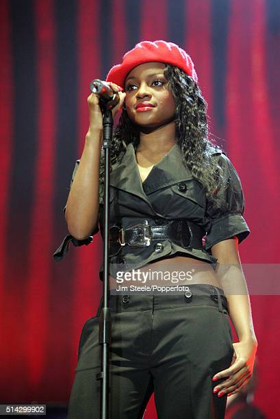 Sugababes member Keisha Buchanan performing live on stage at the T4 Poll Winners' Party 2005 With Smash Hits at Wembley Arena Pavilion on November...