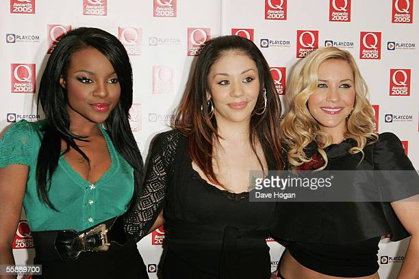 Sugababes members Keisha Buchanan Mutya Buena and Heidi Range arrive at The Q Awards the annual magazine's music awards at Grosvenor House on October...