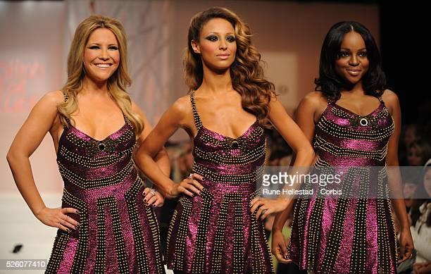 Sugababes on the catwalk during the Fashion for Relief charity fashion show held at the BFC Tent at the Natural History Museum in Central London...