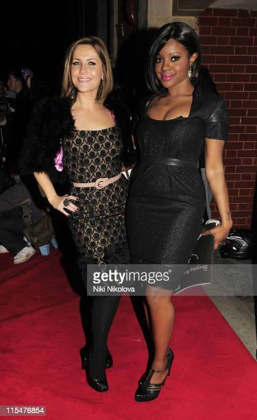 Sugababes singers Heidi Range and Keisha Buchanan attend The Sleeping Beauty VIP reception on December 4 2008 in London England
