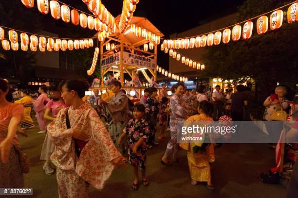 東京都巣鴨盆踊り - ボン ストックフォトと画像