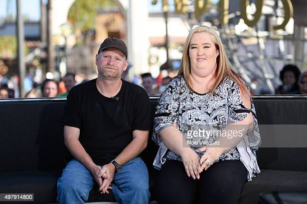 Sugar Bear and Mama June visit 'Extra' at Universal Studios Hollywood on November 19 2015 in Universal City California