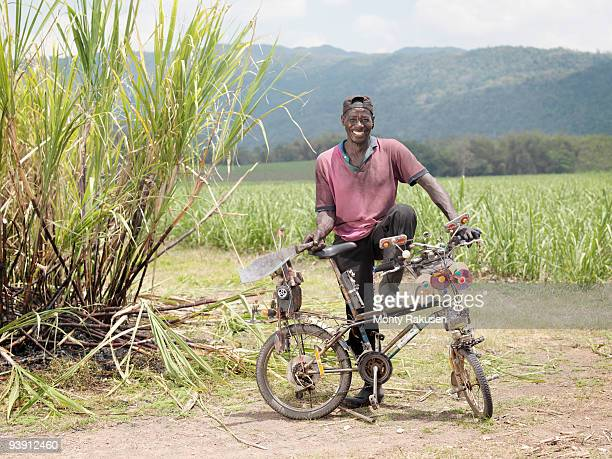 Sugar Cane Worker With Bicycle