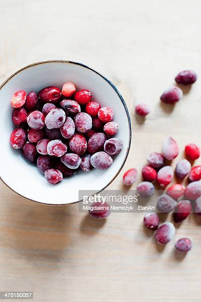 Sugar coated red berries