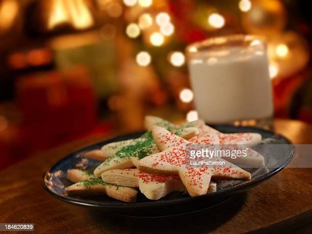 Sugar Cookies and Milk for Santa