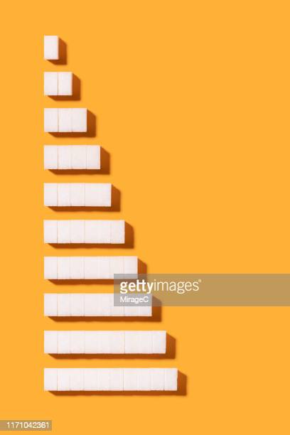 sugar cubes from 1 to 10 bar chart - big bulge stock pictures, royalty-free photos & images