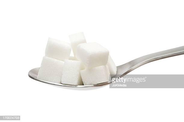 砂糖キューブにスプーン