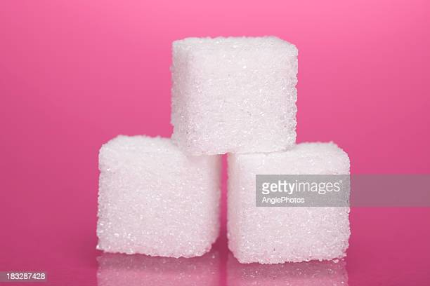 sugar cubes - three objects stock pictures, royalty-free photos & images