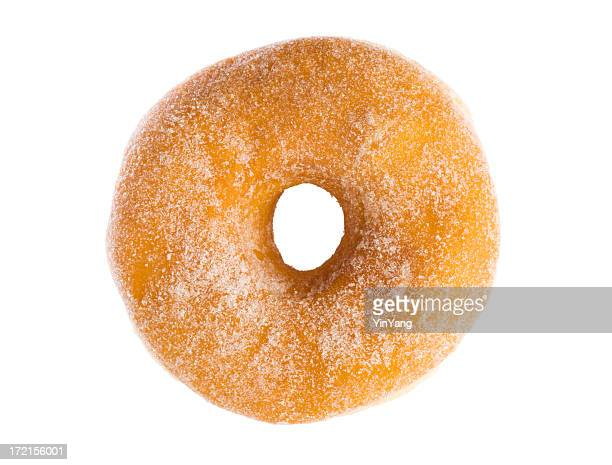 Azúcar Rosquillas de un pastel aislado sobre fondo blanco