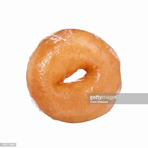 A sugar glazed donut