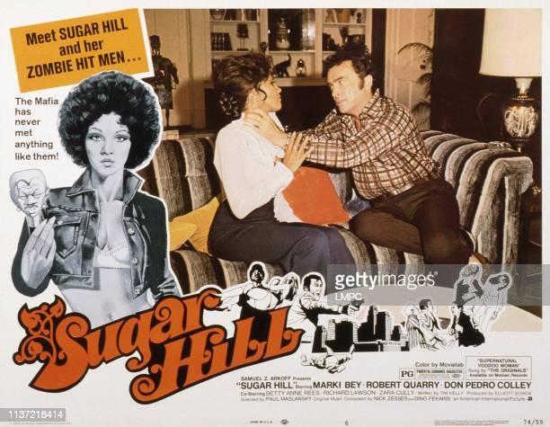 Sugar Hill US lobbycard Marki Bey Robert Quarry 1974