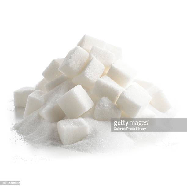 sugar lumps - sugar pile stock pictures, royalty-free photos & images