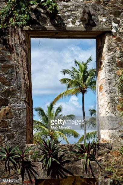 Sugar mill ruins in Caneel Bay,  St John, US Virgin Islands