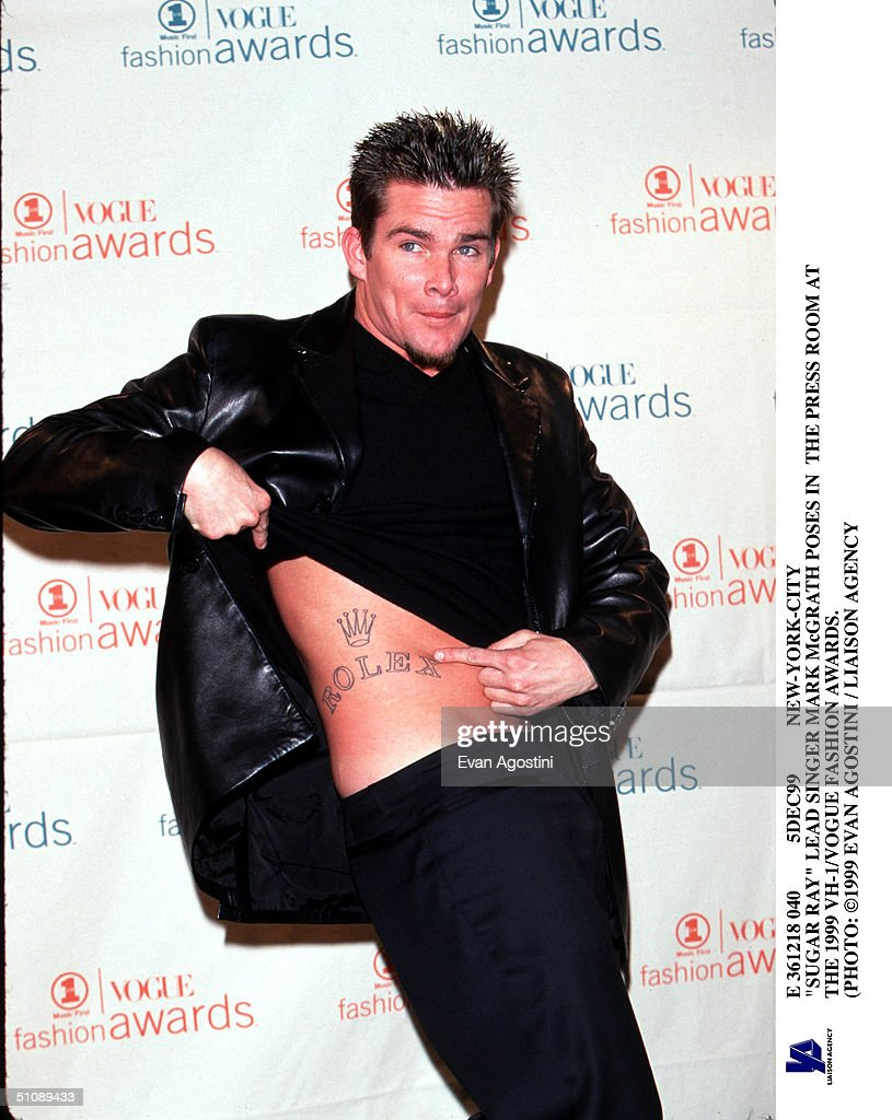 Sugar Ray Lead Singer Mark Mcgrath Shows Off His Rolex Watch Tattoo Backstage December : News Photo