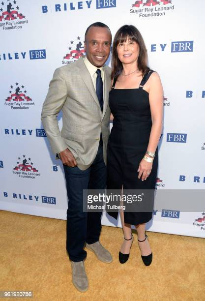 Sugar Ray Leonard and Ann Marie Newman attend the 9th Annual Big Fighters Big Cause Charity Boxing Night Benefiting The Sugar Ray Leonard Foundation...