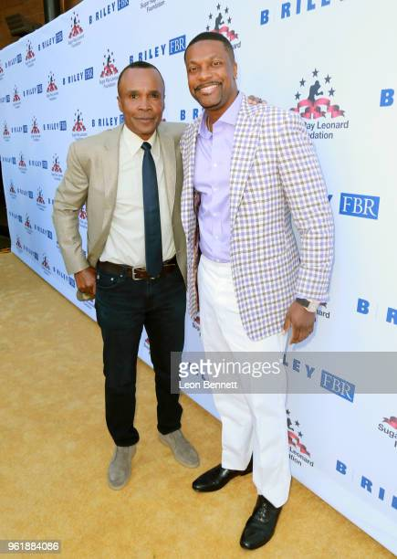 Sugar Ray Leonard and Chris Tucker attend the Sugar Ray Leonard Foundation 9th Annual Big Fighters Big Cause Charity Boxing Night presented by B...