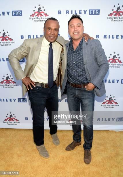 Sugar Ray Leonard and Oscar de la Hoya attend the 9th Annual Big Fighters Big Cause Charity Boxing Night Benefiting The Sugar Ray Leonard Foundation...