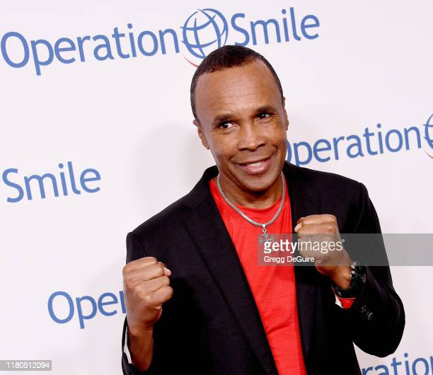 Sugar Ray Leonard arrives at Operation Smile's Hollywood Fight Night at The Beverly Hilton Hotel on November 6, 2019 in Beverly Hills, California.