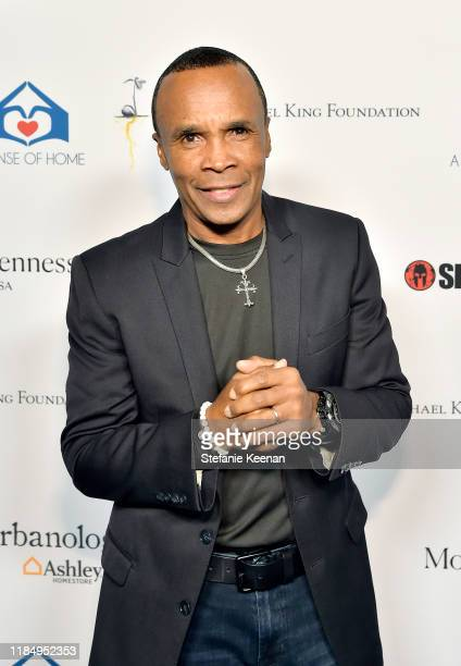 Sugar Ray Leonard attends A Sense Of Home's First Ever Annual Gala - The Backyard Bowl at a Private Residence on November 01, 2019 in Beverly Hills,...