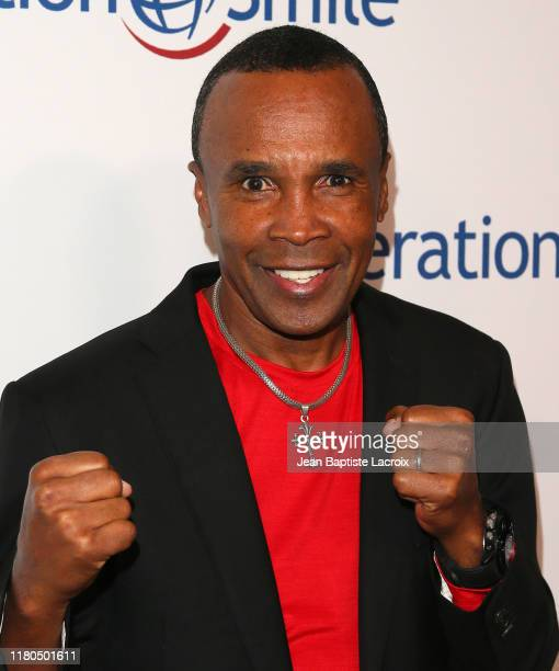 Sugar Ray Leonard attends Operation Smile's Hollywood Fight Night hosted by Brooke Burke and Manny Pacquiao at the Beverly Hilton on November 06,...