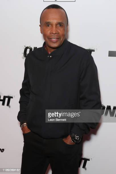 "Sugar Ray Leonard attends Premiere Of ""One Night: Joshua Vs. Ruiz"" at Writers Guild Theater on November 21, 2019 in Beverly Hills, California."