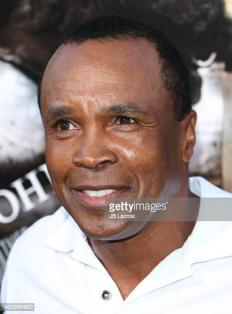 Sugar Ray Leonard attends the Hercules Los Angeles Premiere on July 23 2014 at the TCL Chinese Theatre in Hollywood California